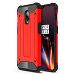 Military Defender Tough Shockproof Case for OnePlus 6T - Red